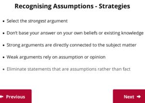 UCAT Decision Making Assumption strategies