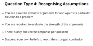UCAT Decision Making Assumptions