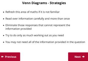 UCAT Decision Making Venndiagram strategies