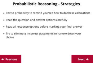 UCAT Decision Making probabilistic reasoning