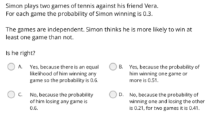 UCAT Decision Making probabilistic reasoning example