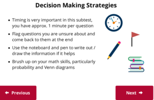 UCAT Welcome to Decision Making strategies